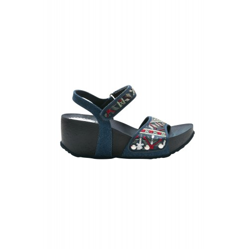 Desigual Women Shoes Atenea Exotic Denim Medium Heel D887228 WLFRYFM