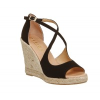 Office Women Halkidiki Espadrille Wedges High Heel D900459 IJCKWQZ