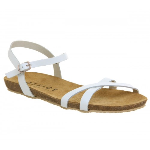 Office Women Safari Cross Strap Footbed Sandals Flat D900455 MIOZJAA