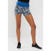 Cotton On Women High waist sculpt shorts Blue & White QZWTHIL