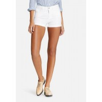 Pieces Women Just Jute shorts White YVIAYTX