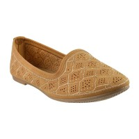 Women Metro 31-6317-Camel Casual Ballerinas Slip On Flats QSJEHNA