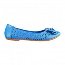 Women Metro 31-6323-Blue Casual Ballerinas Slip On Flats APGDXJD