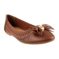 Women Metro 31-6323-Brown Casual Ballerinas Slip On Flats MKCXFSH