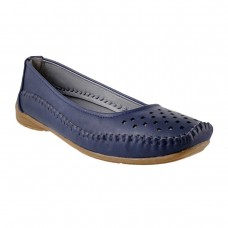 Women Metro 31-6946-Blue-navy Casual Ballerinas Slip On Flats ZOARYXA