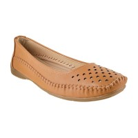 Women Metro 31-6946-Camel Casual Ballerinas Slip On Flats KELQBTO