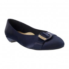 Women Metro 31-7043-Blue Formal Ballerinas Slip On Flats APLQCGY