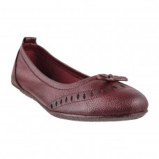 Women Metro 31-7139-Maroon Casual Ballerinas Slip On Flats CLMLYTN