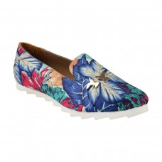 Women Metro 31-7235-Blue Casual Ballerinas Slip On Flats FKODJDB