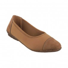Women Metro 31-7734-Beige Casual Ballerinas Slip On Flats RZNCOWY