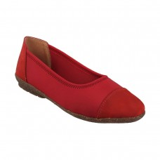 Women Metro 31-7734-Red Casual Ballerinas Slip On Flats AXDZQUL