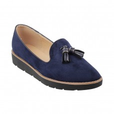 Women Metro 31-7882-Blue-navy Casual Ballerinas Slip On Flats VLPFHZP