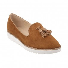 Women Metro 31-7882-Camel Casual Ballerinas Slip On Flats LFNWVQU