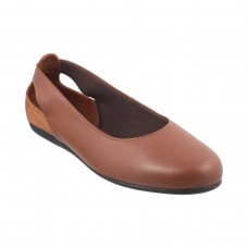 Women Metro 31-7919-Tan Formal Ballerinas Slip On Flats OOFAEVN