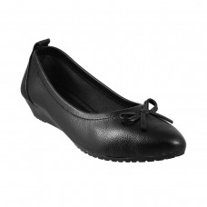 Women Metro 31-7948-Black Formal Ballerinas Slip On Flats UFZZCBU
