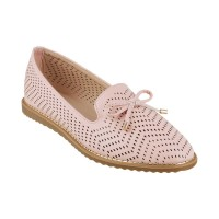 Women Metro 31-8070-Pink Casual Ballerinas Slip On Flats JMHHIEQ