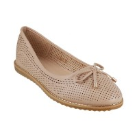 Women Metro 31-8071-Beige Casual Ballerinas Slip On Flats KTQZMTE