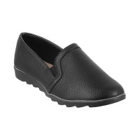 Women Metro 31-8096-Black Casual Ballerinas Slip On Flats TPOIFYZ
