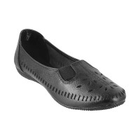 Women Metro 31-8433-Black Casual Ballerinas Slip On Flats PWJVJMX