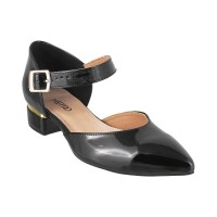 Women Metro 31-7924-Black Formal Sandals Buckle Block ZVZVWTW