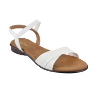 Women Metro 33-295-White Casual Sandals Back Strap Flats HSUEAFG