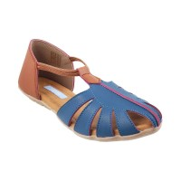 Women Metro 33-51-Blue Casual Sandals Slip On Flats VRFPROH
