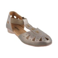 Women Metro 33-7854-Antic-gold Casual Sandals Slip On Flats AABAVGS