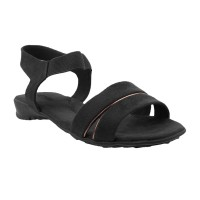 Women Metro 33-9287-Black Casual Sandals Slip On Flats LILFHLC