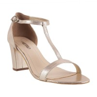Women Metro 40-1686-Gold Party Sandals Buckle Block TGOABCS