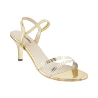 Women Metro 40-1786-Gold Formal Sandals Slip On Stilettos TXRDSYV