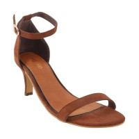 Women Metro 40-1822-Brown Party Sandals Buckle Stilettos PGXRNCY