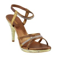 Women Princess 54-2002-Antic-gold Wedding Sandals Slip On Stilettos LAMAUHI
