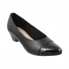 Women Metro 31-7915-Black Formal Pumps Slip On Kitten IXSRWFI