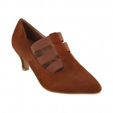 Women Metro 31-8113-Brown Formal Pumps Slip On Kitten PSTZJAB