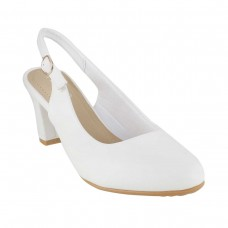 Women Metro 31-8125-White Formal Pumps Buckle Block BHXDAVT