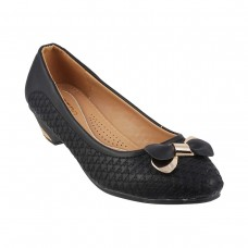Women Metro 31-8189-Black Formal Pumps Slip On Kitten ZVYIUHV