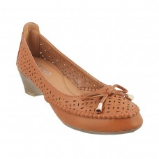 Women Metro 31-8243-Camel Casual Pumps Slip On Wedges RJFAOXZ