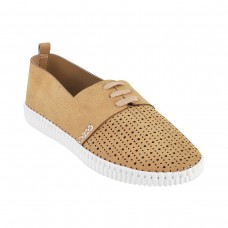 Women Metro 31-8372-Beige Casual Sneakers Lace Up Flats EKKQPGY