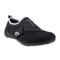 Women Metro 36-4901-Black Sports Sneakers Velcro Flats QJVDUGH