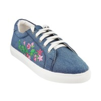 Women Metro 36-8401-Blue Casual Sneakers Lace Up Flats FHJCFQI
