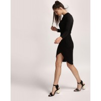 Black Kyle Embroidered Bodycon Dress Skinny IN1732MTODREBLA-179 GQMOPQE