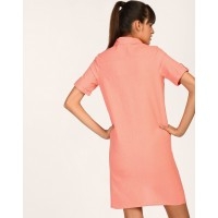 Coral Jayme Shirt Dress Relaxed Coral Linen Mini Shirt Dress IN1805MTODRECRL-961 WDCXYSG