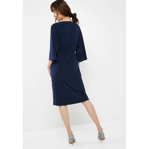 3adf6d919649 ... dailyfriday Women Batwing sleeve midi dress Navy GLGAVTF ...