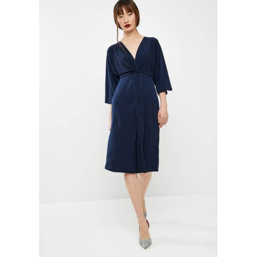 fe3a687b7162 dailyfriday Women Batwing sleeve midi dress Navy GLGAVTF