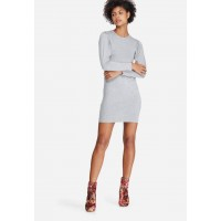 dailyfriday Women Blouson sleeve bodycon Grey SFGZPZV
