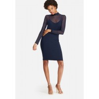 dailyfriday Women Mesh bodycon dress Navy MAPLESU