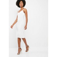 dailyfriday Women Midi double strap bodycon dress White EGBHSTM
