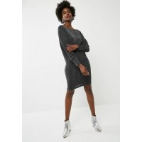 dailyfriday Women Short boat neck dress - black & silver Black & Silver GEONLYB