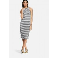 Daisy Street Women Stripe dress Black & White TLGUVUI
