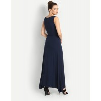 Downey Maxi Dress Blue Slit Maxi Dress IN1609MTODREBLU-105 CYZIRDE
